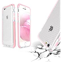 Funda iPhone 6 Plus, Fundas iPhone 6s Plus, Fyy [Shockproof Series] [Material Militares] Funda Ultra Delgada Hibrido en Caso de parachoques Goma Suave del Gel de Silicona Impacto Resistente para iPhone 6S Plus/6 Plus(5.5-inch screen) Rosa Dorado