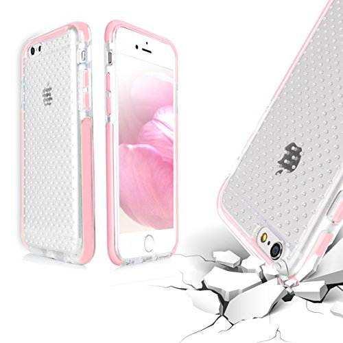 Coque iPhone 6S, Coque iPhone 6, Fyy® [Patente anti-choc] House Ultra Léger hybride transparente Chocs-Résistant Gel silicon pour iPhone 6S/6 (4.7 pouces) Rose