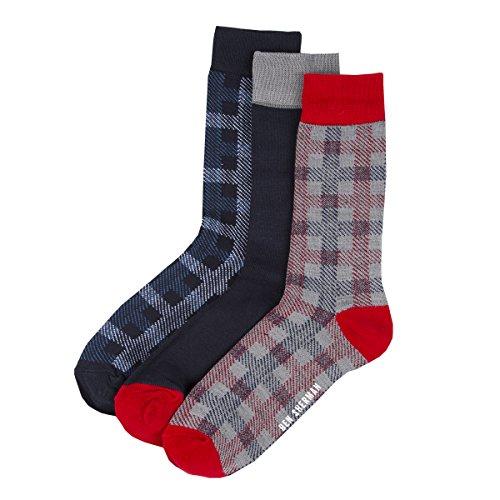 ben-sherman-mens-bamboo-viscose-socks-bailey-red-grey-navy-3-pairs-size-7-11