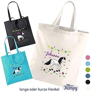 MissRompy Stoffbeutel Pony (840) Einkaufstasche Jutebeutel Wechselkleidung