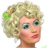 Feenperücke Perücke Fee Märchen Blond Kurzhaar für Damen Damenperücke Kurz Haar Kurzhaarperücke gelockt