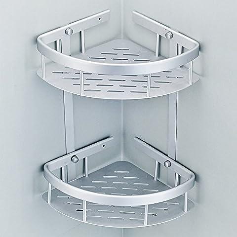 Toalla de baño o cocina Bar titular de Rack de almacenamiento de montaje en pared,organizar todo el estante con toallas y toallas, ventilador de acero inoxidable estanterías