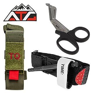 ATG Tactical Tourniquet & Trauma Medical Shear Pouch MOLLE PALS Duty Belt Loop EMT EMS (Green)