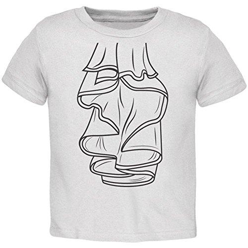 Halloween Pirat Ruffle Shirt Kostüm Kleinkind T Shirt weiß 2 (Kostüme Piraten 2t)