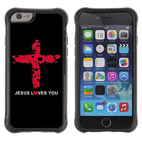 Graphic4You Christ The Redeemer Postkarte Ansichtskarte Design Shockproof Anti-Rutsch Weichen Hülle Case Tasche Schutzhülle für Apple iPhone 6 / 6S Design #5