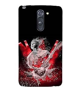 MAN WITH GUITAR Designer Back Case Cover for LG G3 Stylus::LG G3 Stylus D690N::LG G3 Stylus D690