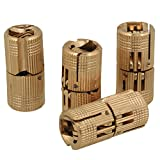 BQLZR Bisagra oculta para puerta y encimera de madera, 12mm, invisible, cobre, paquete de 4 unidades