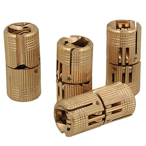 12mm Versteckte unsichtbare verborgene Kupfer Scharnier für DIY Holz Tür Caravan Arbeitsplatte Pack von 4 Stück