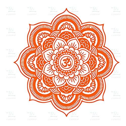 Umweltfreundliche Big Mandala Vinyl Wandtattoo Yoga Aufkleber Menhdi Lotus Große Muster Ornament Om Indische Wandhauptdekor A5 58 * 58 CM