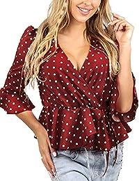 9b188f6207 Blooming Jelly - Camisas - Lunares - Manga 3 4 - para Mujer
