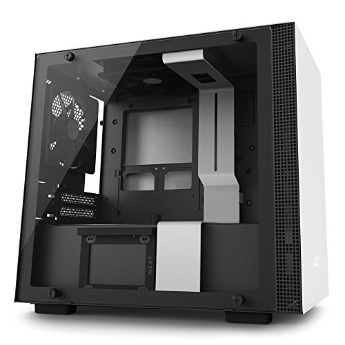 NZXT CA-H200W-WB H200i Mini-ITX PC-Gehäuse, Weiß/Schwarz with SMART DEVICE