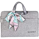 Dcbraa Laptop Bag 15.6 Inch Women Briefcase Bag Waterproof Laptop Case Tablet Bussiness Carrying Handbag Laptop Sleeve for Ladies and Men-Grey
