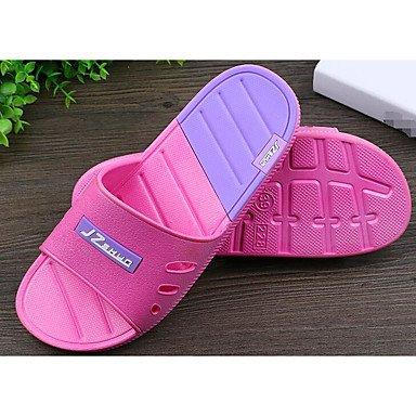 Slippers & amp da uomo;Comfort pattini delle coppie PVC Primavera Casual Blushing Rosa Grigio Nero Piatto, Gra sandali Blushing Pink