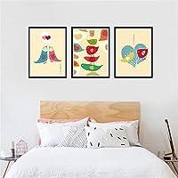 DONG Semplice pittura decorativa pittura il salotto moderno Interior Home Pittura costume tre pezzi , wood color ,