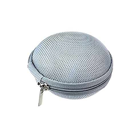 Zolimx Mini Reißverschluss Kopfhörer SD Card Speicher Beutel Kasten Beutel Tragen (Silber) (Münze Silber Fall)