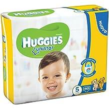Huggies - Unistar - Pañales - Talla 5 (11 - 25 kg) - 40 pañales