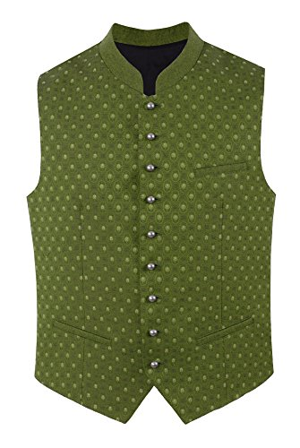 Premium-Qualität Trachtenweste Herren Trachten Gilet Herrenweste Hochzeit - Grün