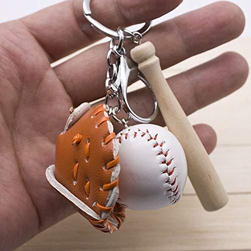 Dfhdfsg kleine Baseball dreiteilige Handschuhe Baseball Baseball Keychain Orange -