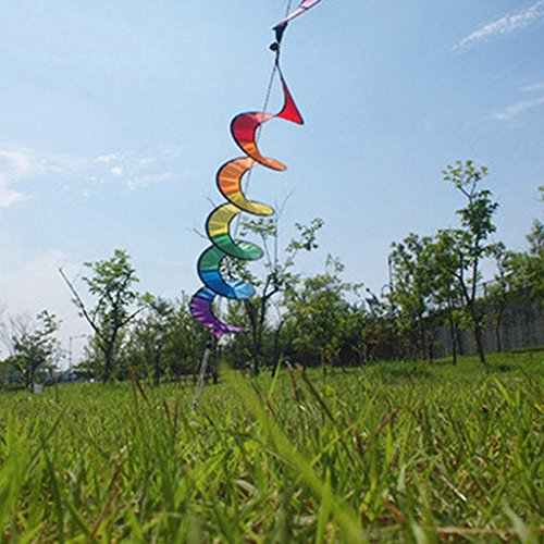 519ib7HrueL. SS500  - Nylon Spiral Rainbow Wind Spinner Tent Garden Decoration Colorful