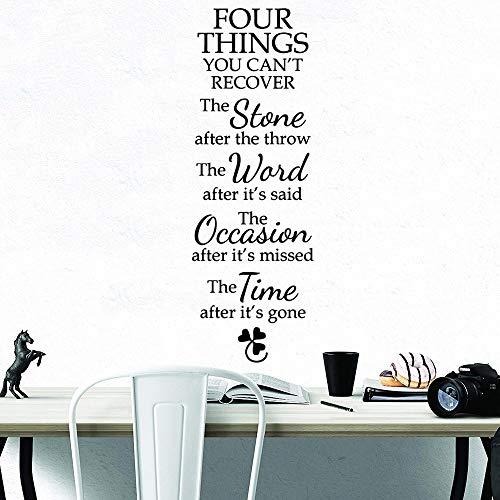 zqyjhkou Zitieren Sie Vier Dinge, die Sie Nicht wiederherstellen können Wandaufkleber Removable Wallpaper Decor für Wohnzimmer Schlafzimmer Dekoration 43x55cm