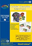 GoColor TShirt Transfer Inkjet Photo Paper Dark Fabrics Make custom Tshirts at home! As simple as 1-2-3 (dark)