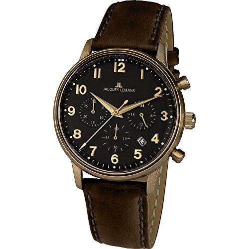 Jacques Lemans Reloj Cronógrafo para Hombre de Cuarzo con Correa en Cuero N-209ZK