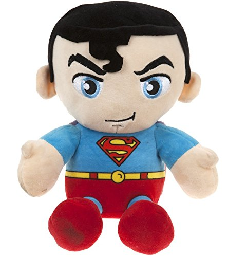 "DC COMICS - Plush Toy character ""Superman"" of the movie and TV cartoons ""SUPERMAN""(sitting 9""/23cm) - Qualità super soft"