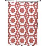 E por diseño más abrazos y besos impresión geométrica cortina de ducha, semillas