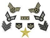 Super Aktion! Military Army Patch Sticker 10 Stück Aufbügler Aufnäher