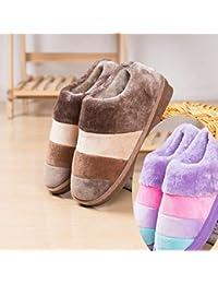 LaxBa Frauen Männer Indoor Anti-Slip Hausschuhe Schuhe die Lila 37/38
