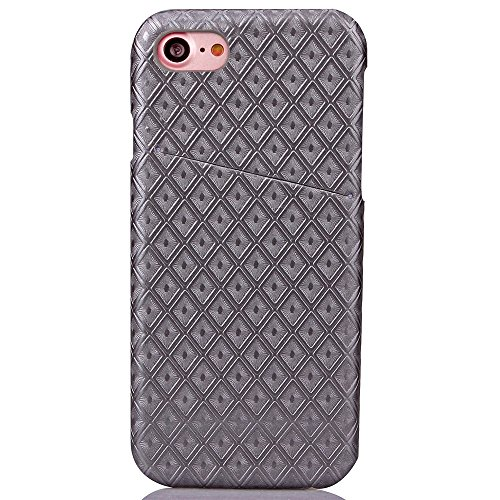 iPhone Case Cover Diamant-Gitter-quadratisches Gitter-Muster-harte rückseitige Abdeckung für Apple IPhone 7 ( Color : Red , Size : IPhone 7 ) Gray