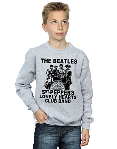 The Beatles Jungen Lonely Hearts Club Band Sweatshirt 5-6 Years Sport Grey