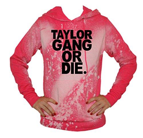 TRVPPY Batik Damen Hoodie mit vielen verschiedenen Motiven, Gr. XS-XXL Taylor Gang Or Die-Schwarz