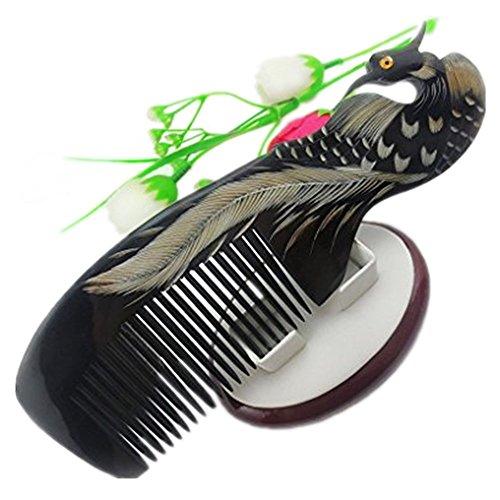 FakeFace Bao Core Hornkamm Kamm aus Natur Horn Kämme Griffkamm Frisierkamm für Bartpflege und Haarpflege