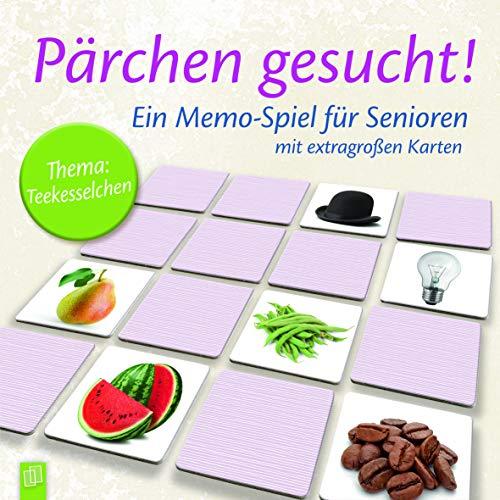 """Pärchen gesucht - Thema \""""Teekesselchen\"""": Ein Memo-Spiel für Senioren mit extragroßen Karten"""