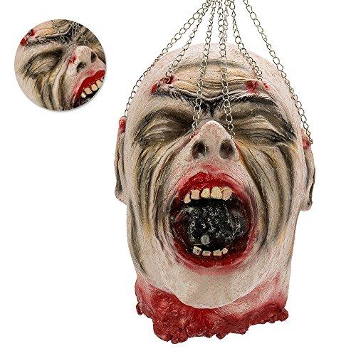 e Kopf Gruselig Lebensgroß Hängend Dekoration Verschiedenes Style (Style03) (Lebensgroße Halloween-dekoration)
