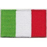 2er Set mini Flaggen Italien Aufnäher Fussball WM  Flicken Aufbügler NEU