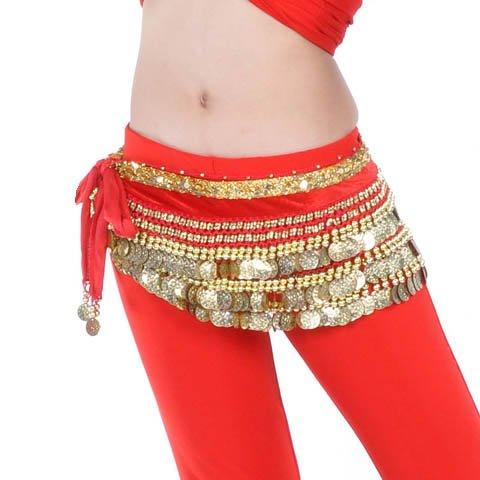 Belly Dance Hip Écharpe de jupe avec paillettes Idée de Cadeau de Noël style 3