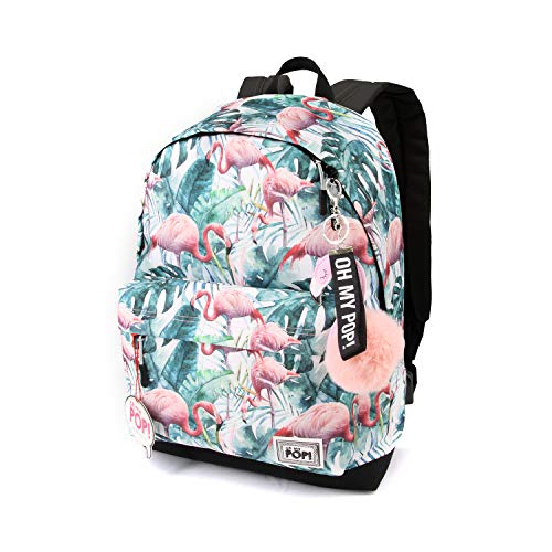 Oh My Pop! Oh My Pop! Flamenco Tropical-HS Rucksack Mochila Tipo Casual 42 Centimeters 23 Multicolour...