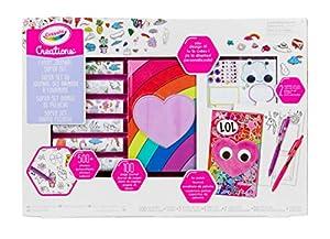 CRAYOLA Creations Súper Set Diario Peluche, para personalizare con Pegatinas y Joyas, a Partir de 8 años, Multicolor (04-0661)