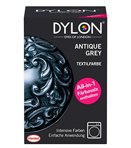 DYLON Textilfarbe, Antique Grey, 1er Pack (1 x 1 Stück) (Stoff Schuhe Taupe)