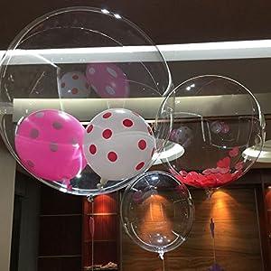Kicode Trasparente 10 Pollici Pallone a Palloncino d'onda Bobo Ball Festa di Compleanno Festeggiamento di Banchetti di Nozze Decorazione di Natale 1 spesavip
