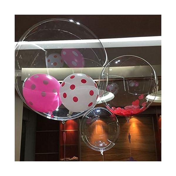 Kicode Trasparente 24 Pollici Pallone a Palloncino d'onda Bobo Ball Festa di Compleanno Festeggiamento di Banchetti di… 1 spesavip
