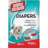 simple solution Disposable Dog Diapers Nappies Medium-Small