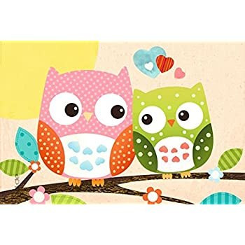 Amazon.de: Poster Süße Eulen auf Ast Eule Sweet Owl