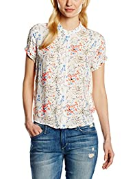 TOM TAILOR Denim Damen Bluse Detailed Printed Blouse