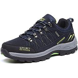 NEOKER Wanderschuhe Trekking Schuhe Herren Sports Outdoor Hiking Sneaker Blau 40