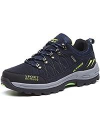 NEOKER Scarpe da Trekking Uomo Donna Arrampicata Sportive All'aperto Escursionismo Sneakers Army Green Blu Nero Grigio 36-48
