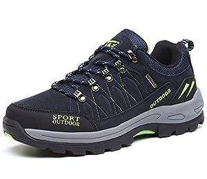 NEOKER Wanderschuhe Trekking Schuhe Herren Sports Outdoor Hiking Sneaker Blau 47