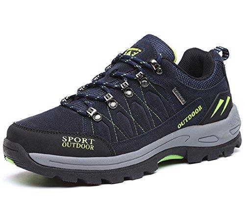 NEOKER Wanderschuhe Trekking Schuhe Herren Damen Sports Outdoor Hiking Sneaker Blau 45